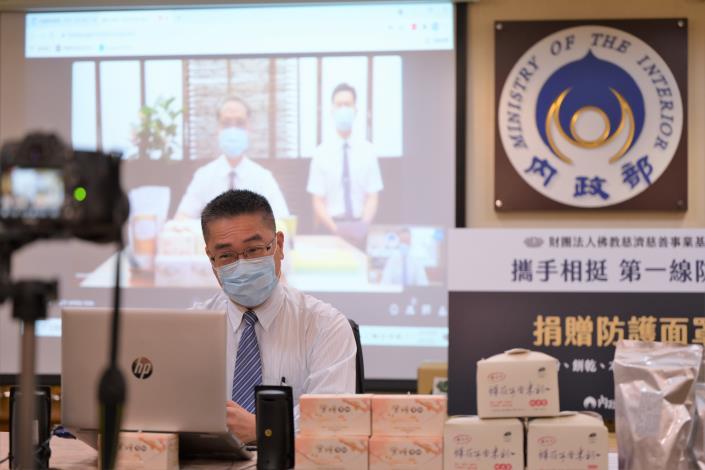 挺第一線防疫!慈濟捐3萬片防護面罩等多項物資