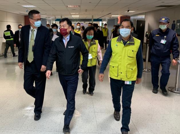 次長陳宗彥視察桃園機場第二航廈入境旅客動線