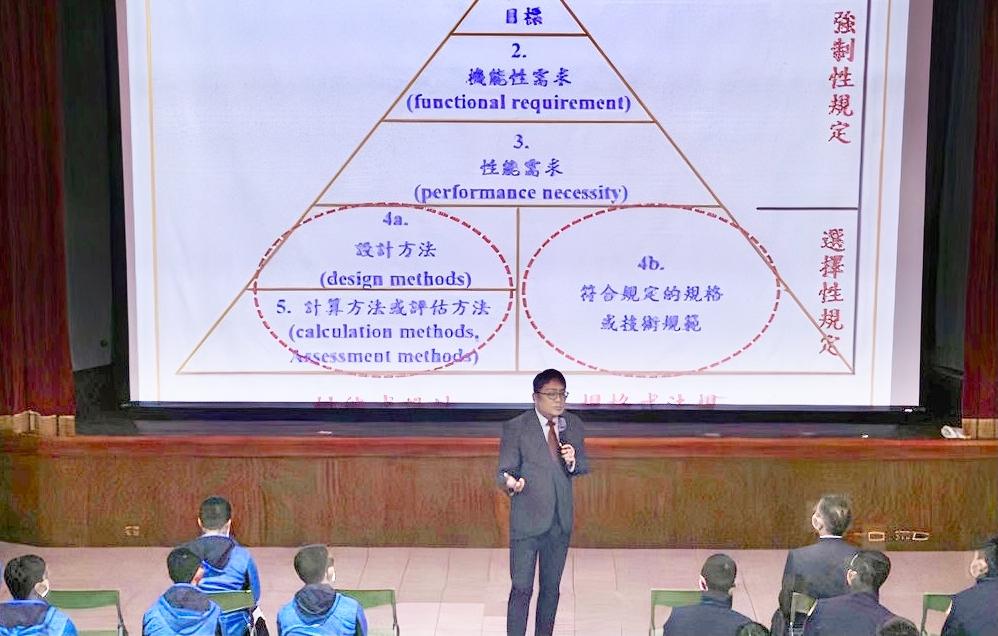 高雄科技大學學務長蔡匡忠教授專題演講