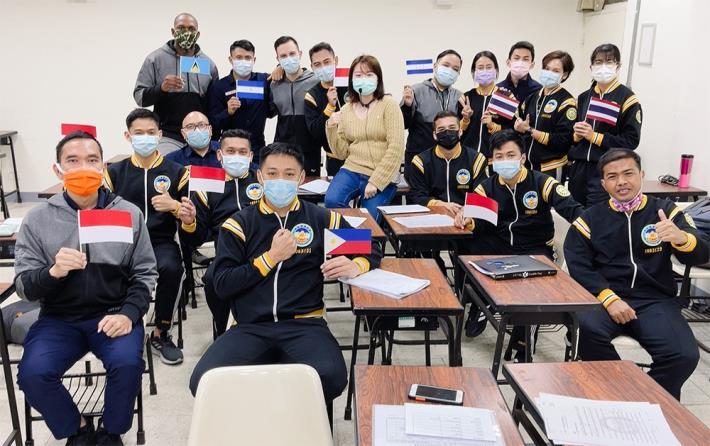 外籍學生大合照