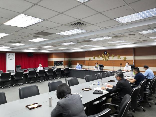 內政部次長陳宗彥主持全國警察首長視訊會議