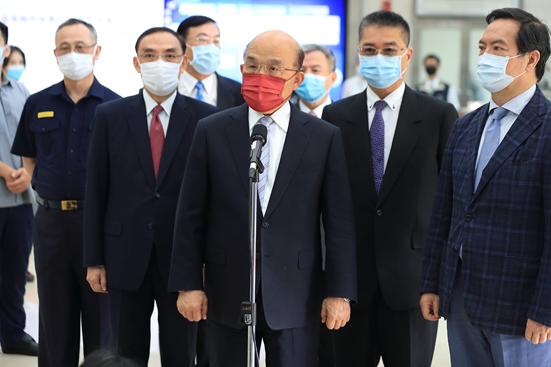 行政院院長蘇貞昌勉勵查緝有功單位與人員