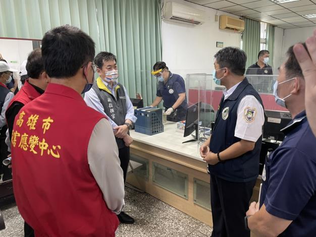 副指揮官陳宗彥於內政部移民署國境事務大隊高雄港駐點視察