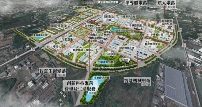 3.高雄新市鎮橋頭科學園區規畫設計示意圖