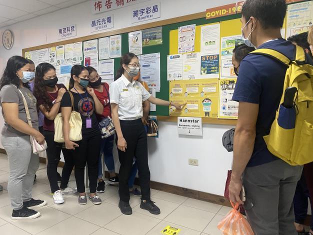移民署南區事務大隊臺南市第二服務站向移工宣導防範非洲豬瘟