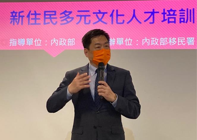 Deputy Minister Chen Tsung-yen delivering a speech in the venue