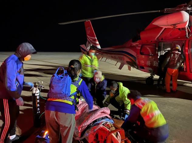1100202金門民眾主動脈剝離緊急醫療後送任務2