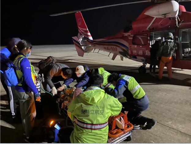 1100202金門民眾主動脈剝離緊急醫療後送任務