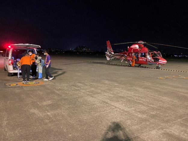 1100507澎湖七美病患空運本島急救3