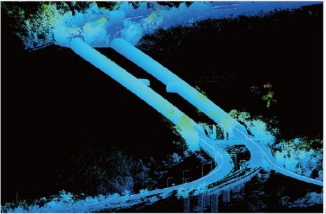 車載式光達移動測繪系統3D立體道路掃瞄成果