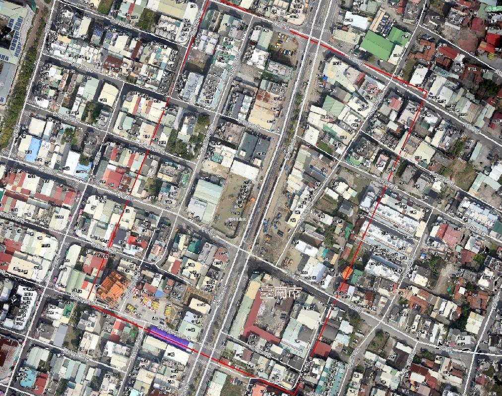 臺南市維冠大樓快速幾何糾正鑲嵌影像