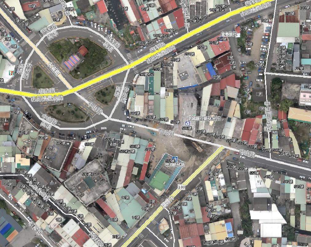 臺南市京城大樓快速幾何糾正鑲嵌影像
