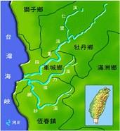 四重溪河川流域圖