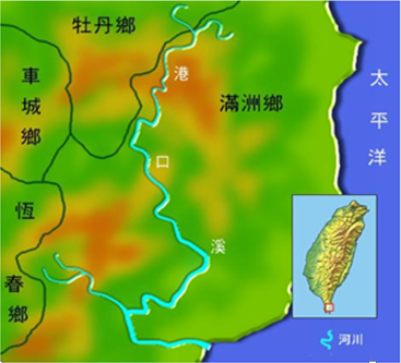 港口溪河川流域圖