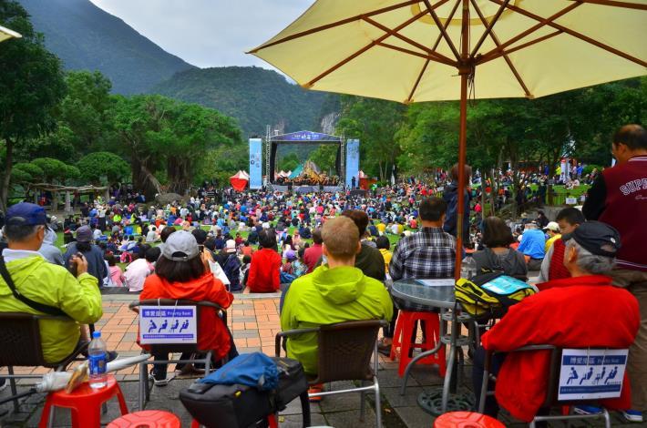 2020太魯閣峽谷音樂節滿場聽眾(太管處資料照片)