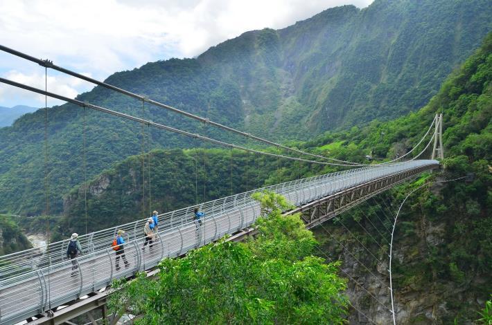 Shanyue Suspension Bridge (Photo from Taroko N. P. HQ)