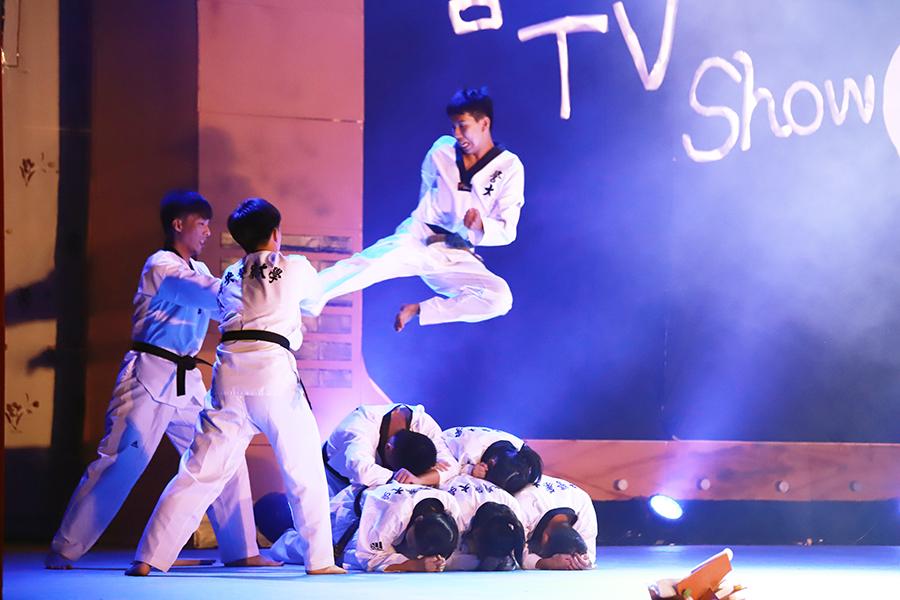 Kendo, judo, taekwondo, and other sports skills demonstration