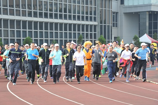 Minister Yeh participates in CPU Sports Day
