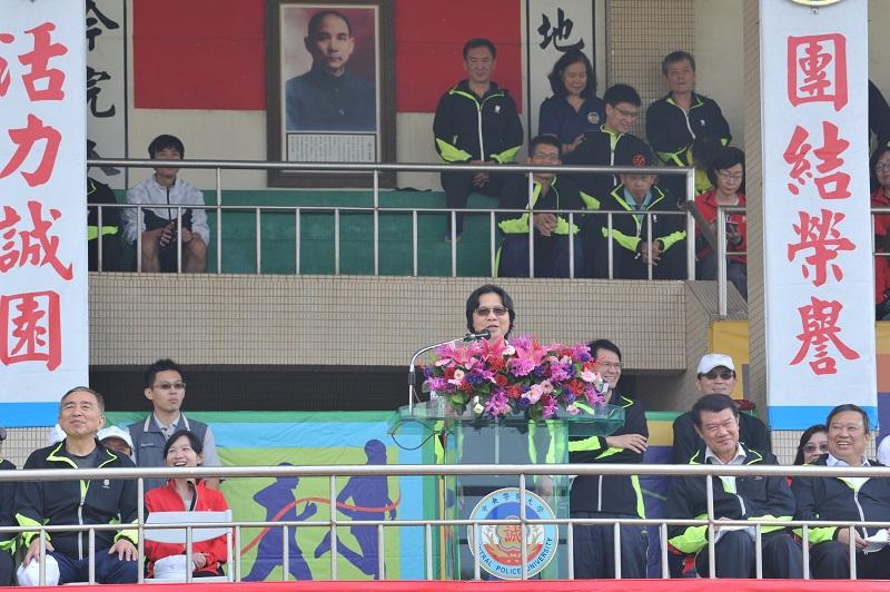 相片2:內政部長葉俊榮主持警察大學校運會開幕典禮