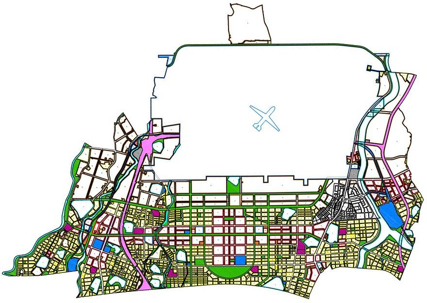 圖1 內政部都市計畫委員會第832次審議通過之特定區計畫示意圖