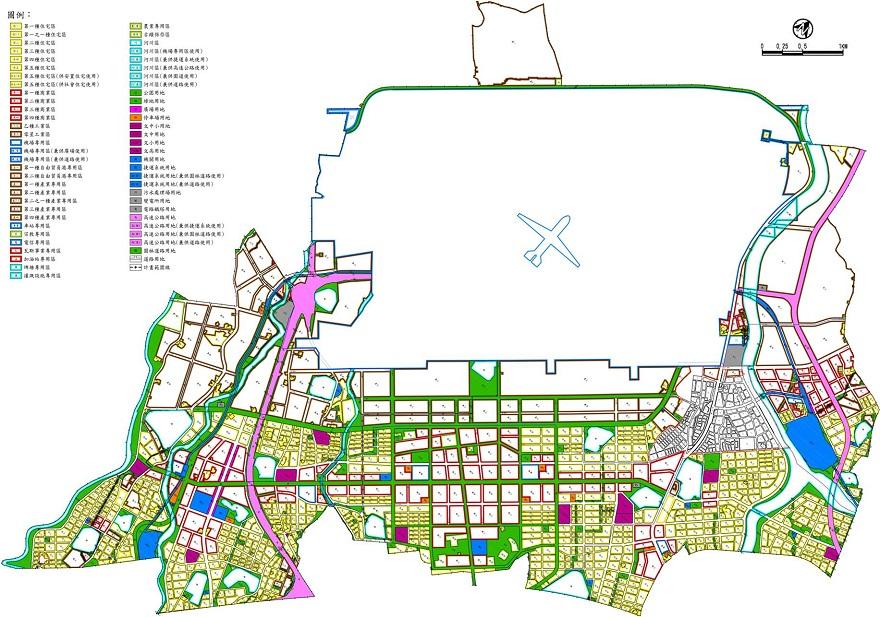 圖3 內政部營建署城鄉發展分署106年8月11日再公開展覽修正草案示意圖