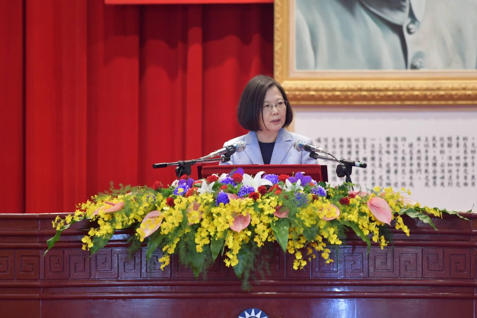 總統蔡英文主持「中央警察大學107年聯合畢業典禮」