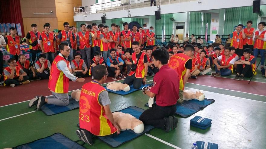 臺南市演訓召集,課程內容結合緊急救護之實際操作