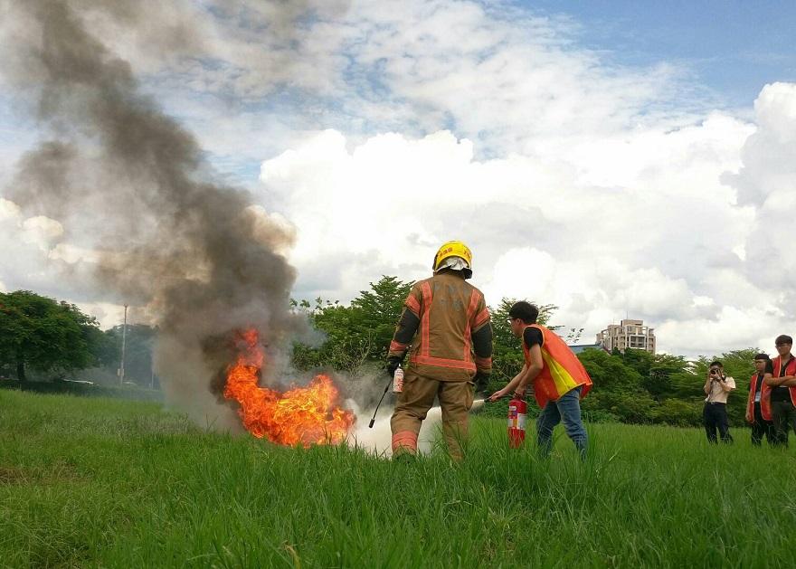 臺南市演訓召集,課程包含防、救災實務操作