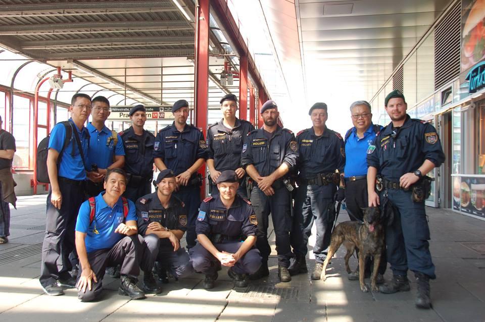 地利維也納警犬培訓中心,並參與警犬能力檢測、警犬隊巡邏勤務及地區警察分局與警犬隊的聯合勤務。