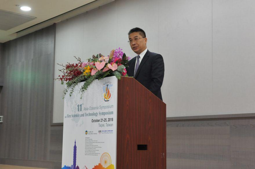 內政部長徐國勇主持「第11屆亞太消防科學與科技國際研討會」