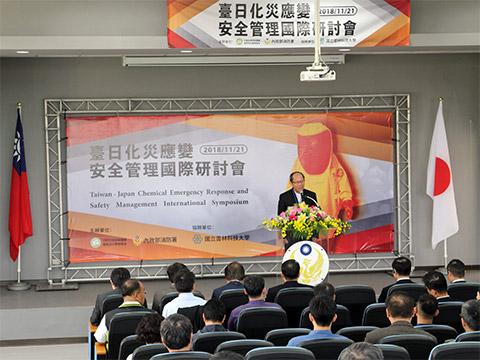 內政部消防署副署長謝景旭主持開幕典禮