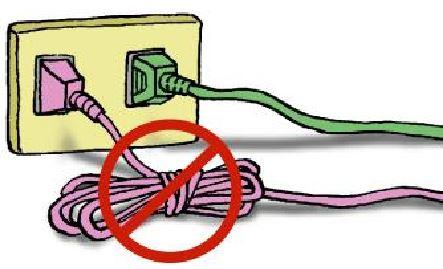 圖2電器電線勿綑綁