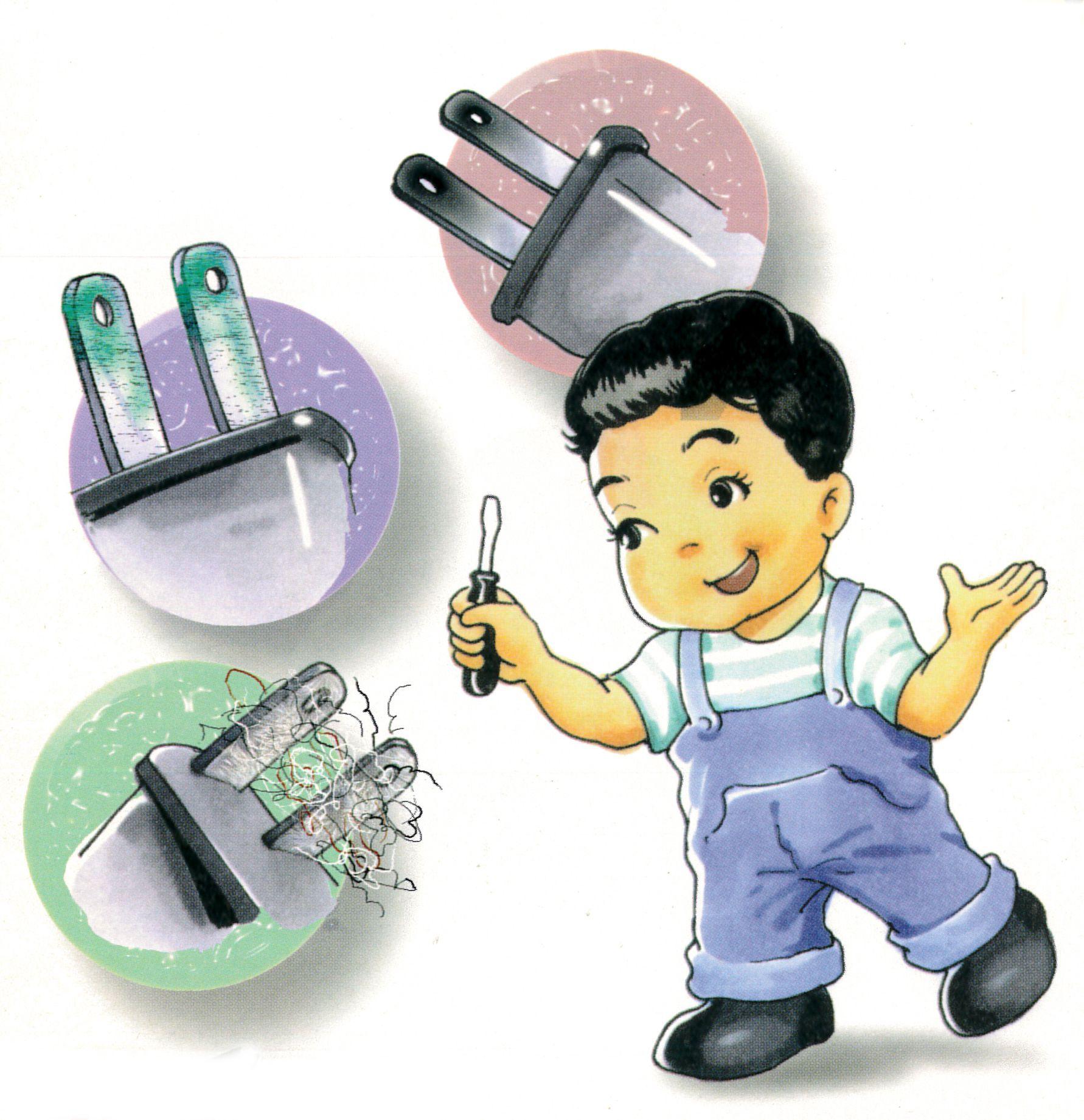 圖3檢查電器插頭有無焦黑、綠鏽及堆積灰塵