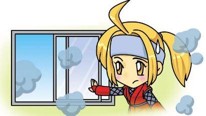 圖7瓦斯外洩時,應慢慢打開門窗通風