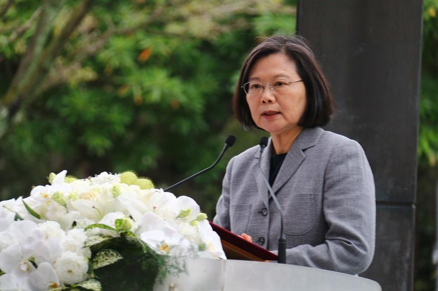 蔡總統親臨紀念活動並發表演說