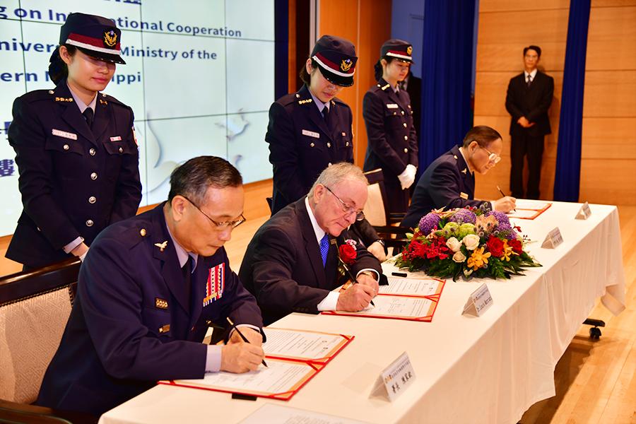 內政部警政署、中央警察大學及美國南密西西比大學簽署教育訓練備忘錄