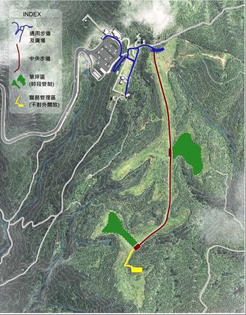 擎天崗草原中央步道設施設計平面配置圖