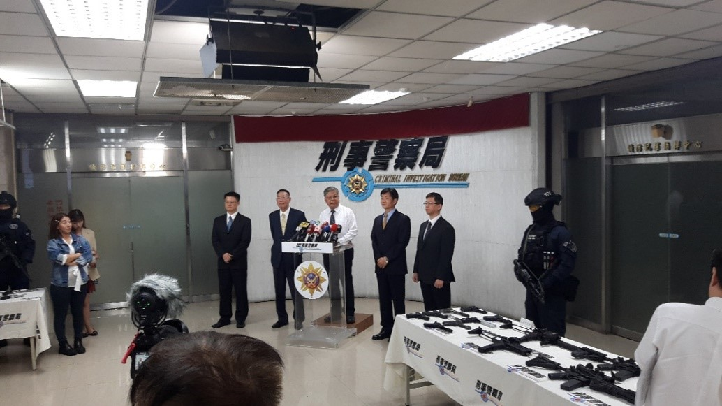 108年6月23日本部警政署刑事警察局與臺灣高等檢察署召開專案成果記者會