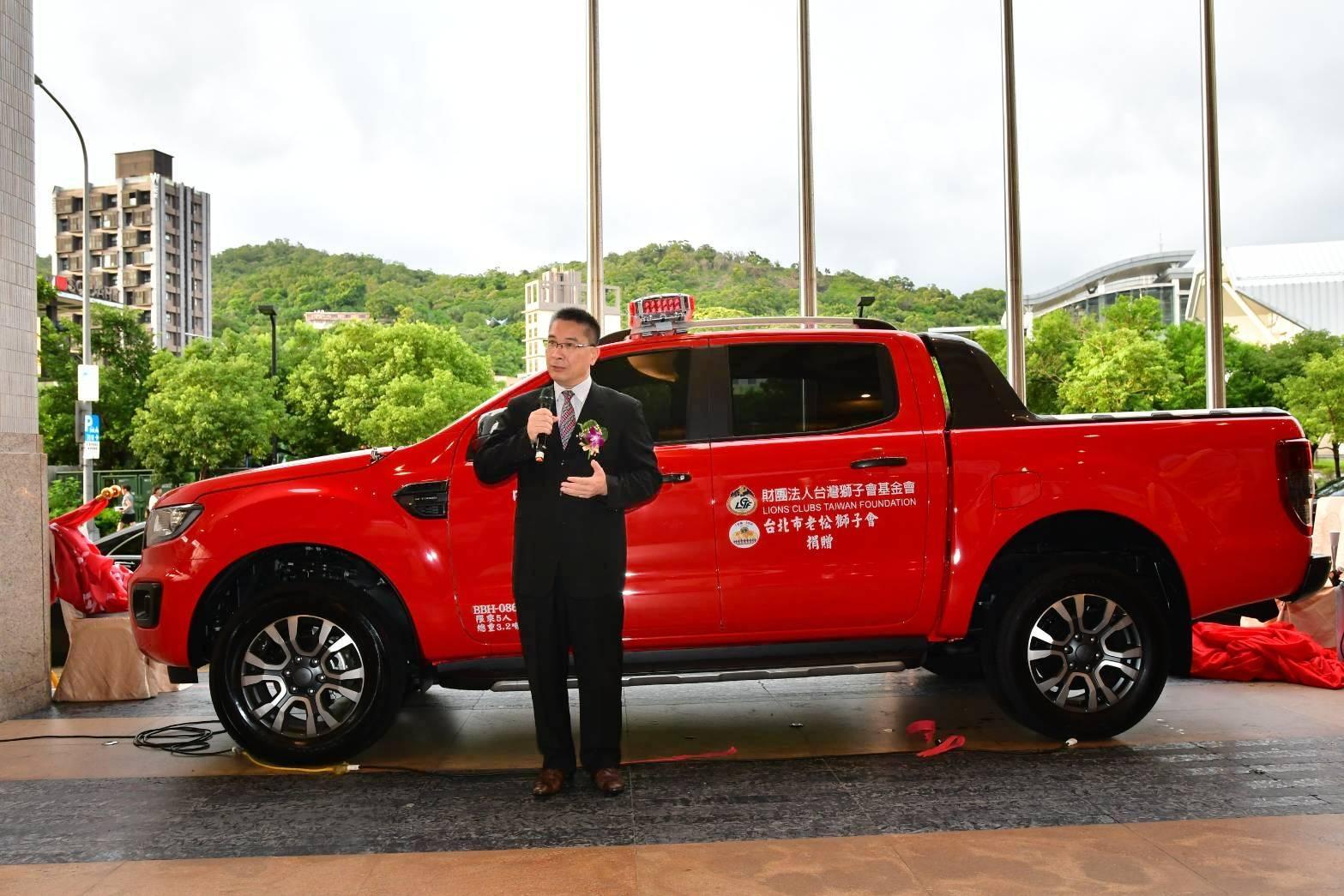 內政部長徐國勇感謝獅子會陸續捐贈3部勘災車