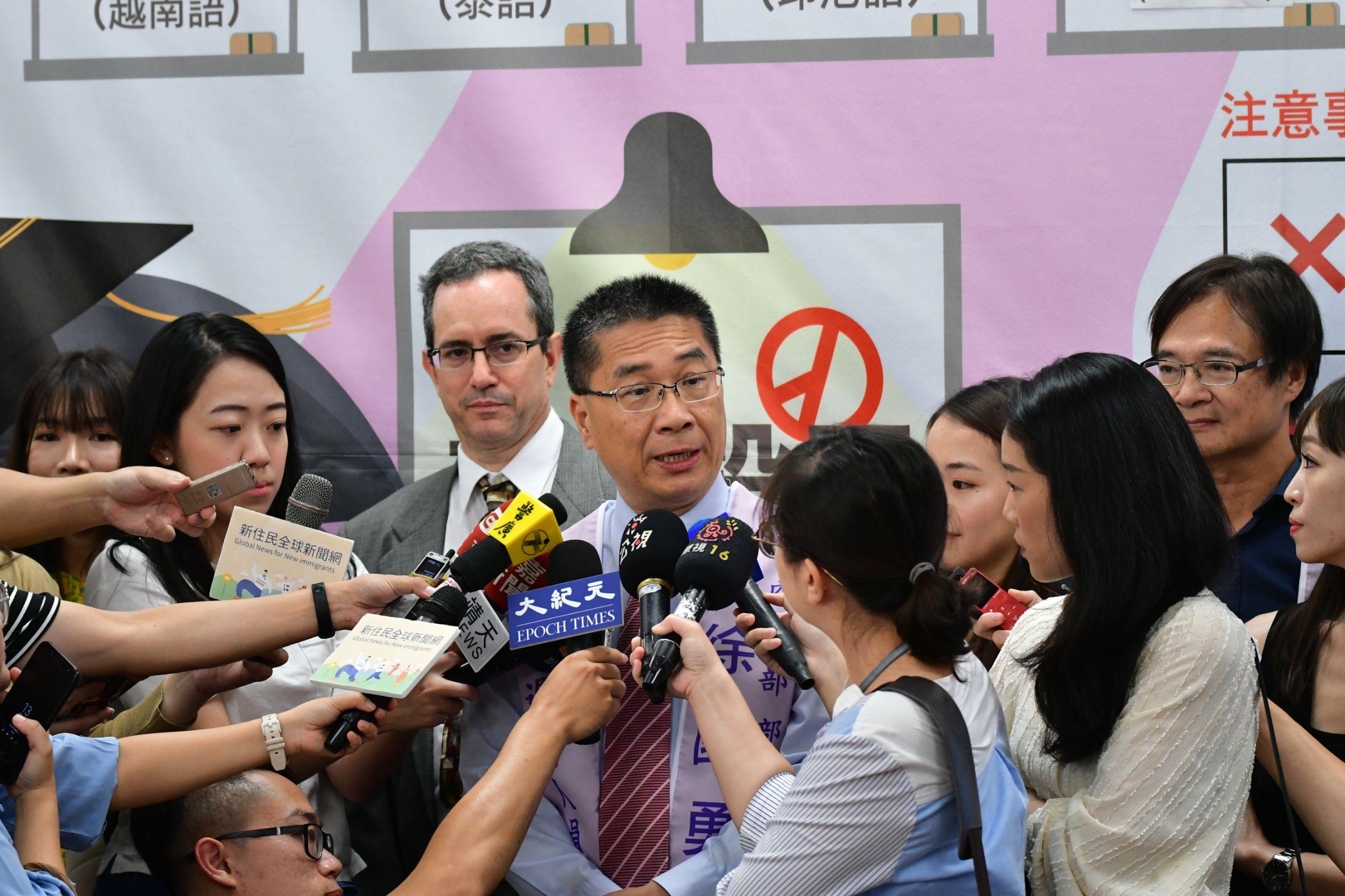 徐國勇部長於活動現場接受訪問
