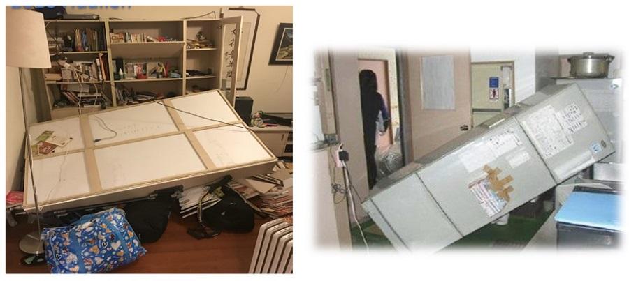圖1地震後住宅空間內部實際拍攝