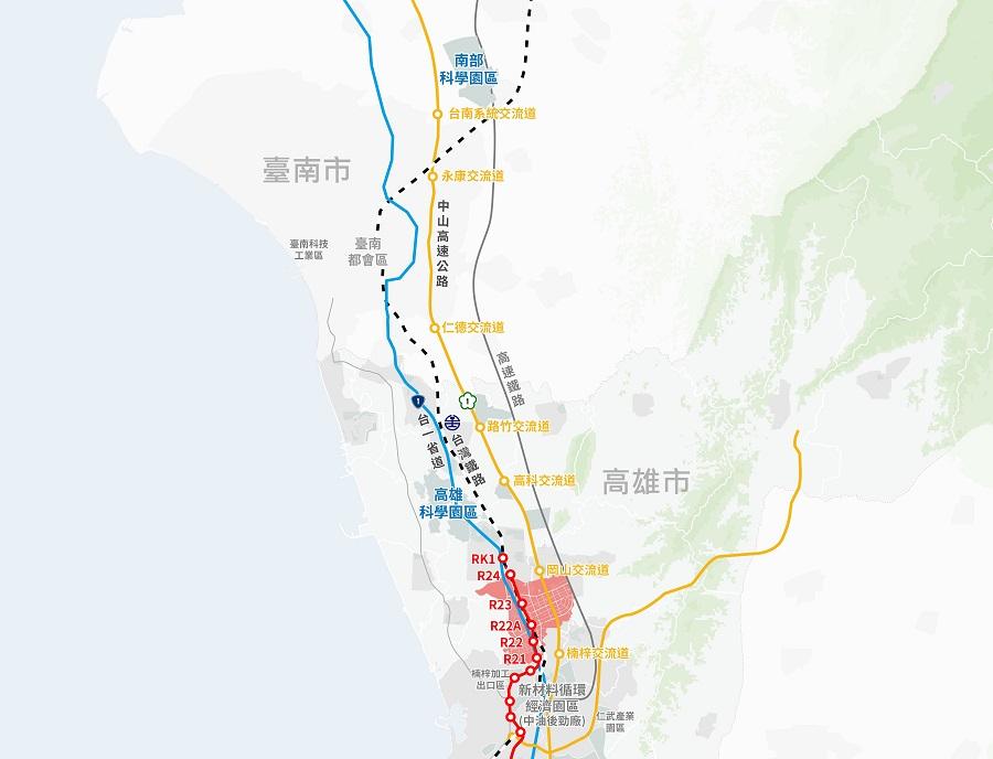 圖一 高雄新市鎮第二期發展區之區位示意圖