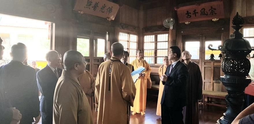 圓山臨濟護國禪寺是臺北市市定古蹟,寺內的大雄寶殿是臺灣宗教百景之一