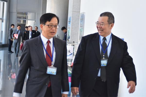 內政部常務次長邱昌嶽與中央警察大學副校長莊德森