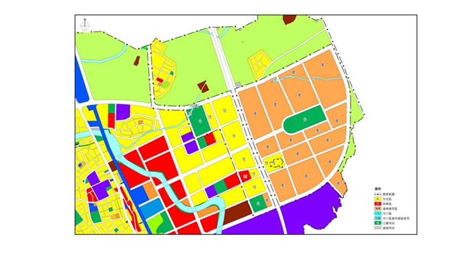 圖二 變更都市計畫圖(資料來源:營建署整理)