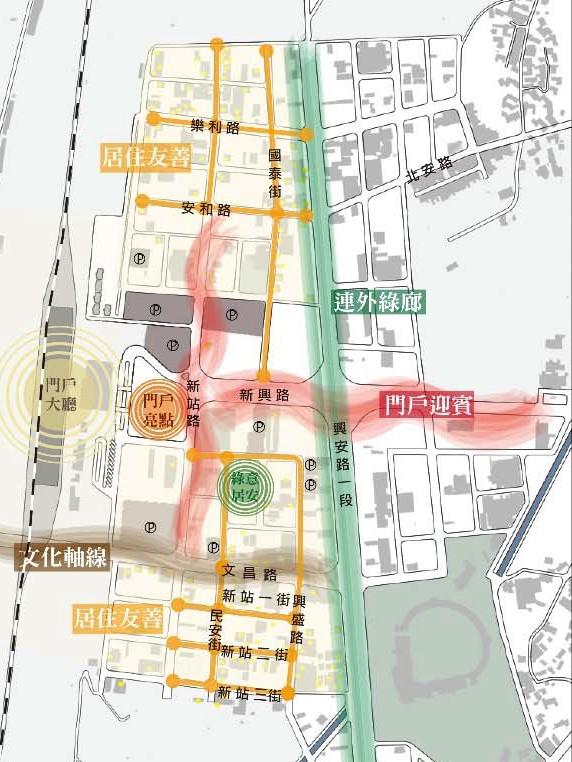 圖一:臺東車站門戶道路景觀提升計畫