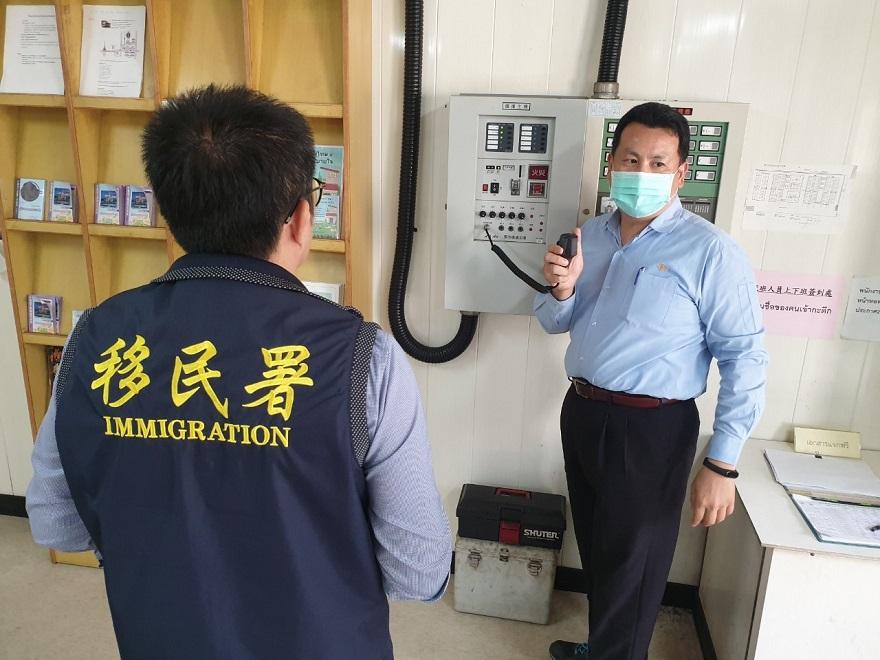 移民署行動列車前進麥寮台塑工業園區宣導自行到案專案