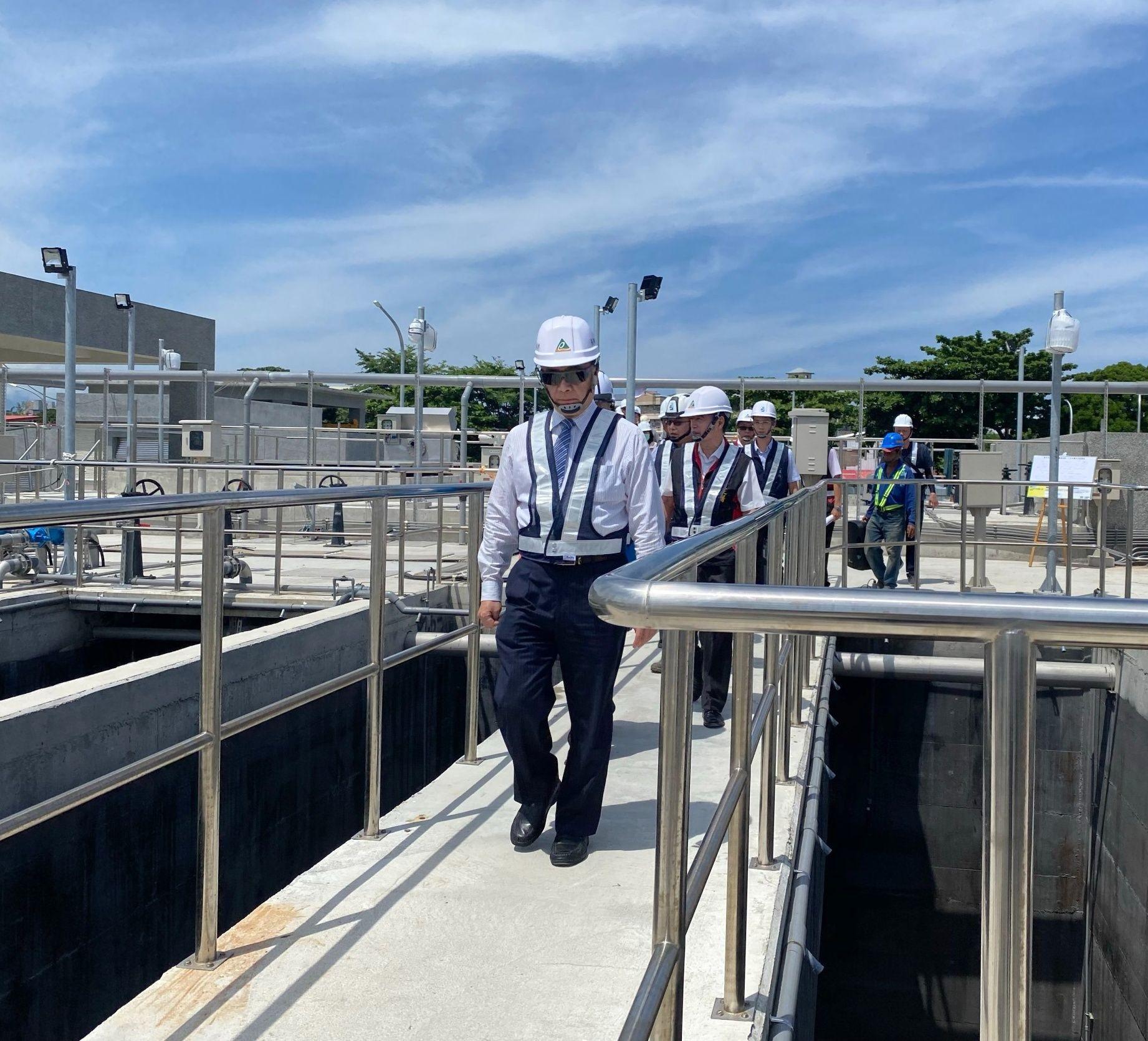 視察「臺東市水資源回收中心」第一期新建工程
