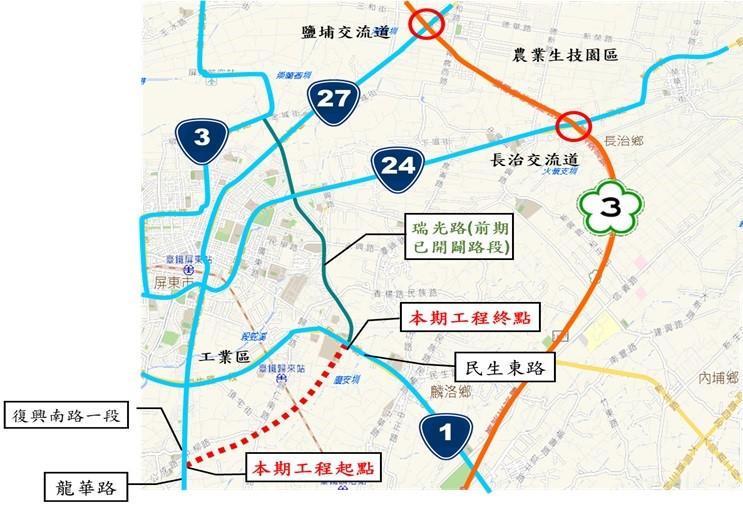 瑞光路延伸工程位置圖