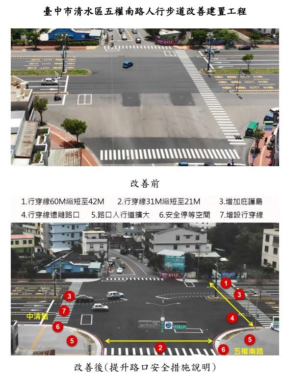 臺中市清水區五權南路人行步道改善建置工程